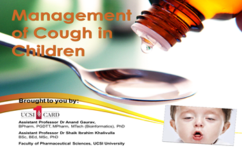 Management of Cough in Children