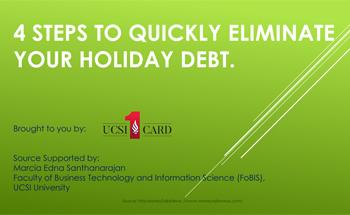 4 Steps To Quickly Eliminate Your Holiday Debt.